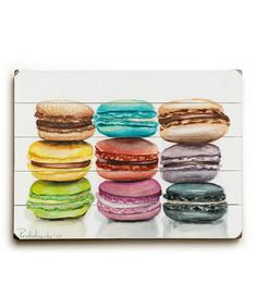 Look what I found on #zulily! Macaroons Wood Wall Art #zulilyfinds