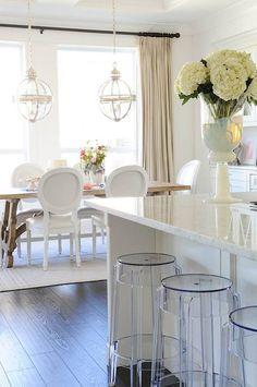 Lighting and bar stools