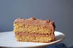 Graham Cracker Layer Cake.  I think this would be good with Cream Cheese frosting tool.