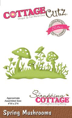 Cottage Cutz - Die - Spring Mushrooms (Elites),$15.99