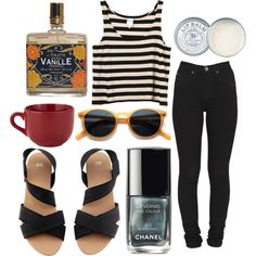 """Stutter"" by wonderfulwocket on Polyvore.  Really like those sandals"