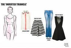 Resultado de imagen de inverted triangle body shape