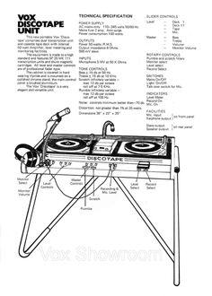 Vox Discotape Unit / 1971