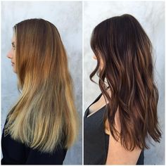 """""""Brassy to Classy✨ melted chocolate brown with soft caramel sparkles…"""