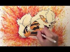 Pokemon Speed Drawing - Drawing Arcanine
