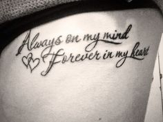 Always In My Heart Tattoo