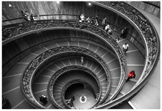 Fine art photography Vatican circle ladders by DGstyle on Etsy, $20.00