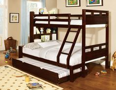 Furniture Of America Fairfield Collection Twin/Full Bunk Bed Cm-Bk459-Ex-F For $557