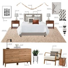 California Casual Bedroom styled by Emily Henderson : Target Target Bedroom, Home Bedroom, Bedroom Decor, Bedroom Ideas, Master Bedroom, Target Living Room, Bedroom Furniture, Target Bedding, Furniture Sets