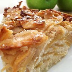 La tarta (pudding) de manzana más fácil del mundo (sin gluten), hoy en el blog #delikatissen