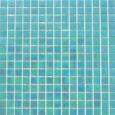 MOSAIKFLIESEN PERLMUTT GLASSTEIN GLASMOSAIK Türkis 1Matte Mosaikfliesen Glasmosaik Perlmut
