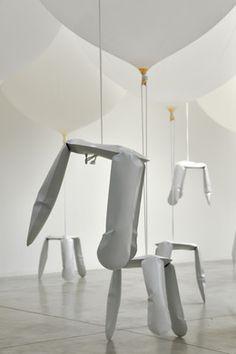 oskar zieta bazair installation with aluminium plopp stools Air Max 360, Jean Prouve, Artsy, Dining Table, Loft, Pearls, Artwork, Gallery, Stools