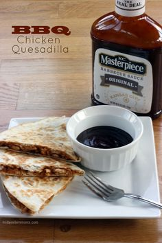 BBQ Chicken Quesadilla Recipe with KC Masterpiece - Midwestern Moms