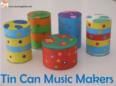 These Tin Can Music Shakers are a simple homemade musical instrument to make and you will find most of the materials around the home.