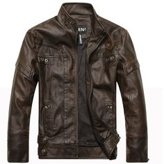 New Arrive Motorcycle Men's Leather Jacket - Pulse Designer Fashion