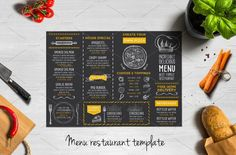 Creative and modern food menu template for your restaurant business.This template can be used for vintage menu, printable menu, wedding menu, restaurant menu, food menu inspiration. Food Menu Template, Restaurant Menu Template, Restaurant Flyer, Restaurant Menu Design, Restaurant Recipes, Menu Templates, Printable Menu, Restaurant Website, Design Templates