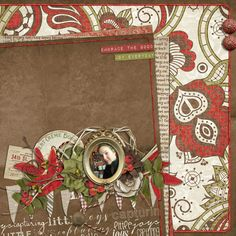 Digital Scrapbook Page Layout by Cynthia using the Little Joys Kit from Etc by Danyale at The Lilypad #etcbydanyale #thelilypad #digitalscrapbooking #memorykeeping #christmas #holiday