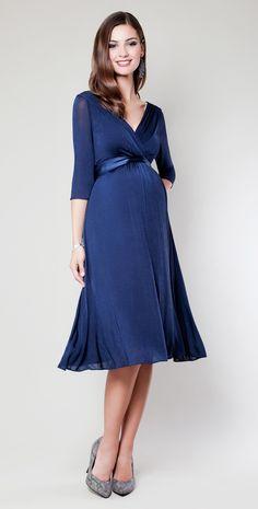 maternity Christmas dresses | Willow Maternity Dress (Midnight Blue) - Maternity Wedding Dresses ...