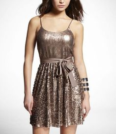 sequined cami dress at Express