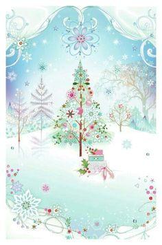 Leading Illustration & Publishing Agency based in London, New York & Marbella. Noel Christmas, Pink Christmas, Christmas Wishes, Christmas Pictures, Christmas Colors, Christmas Greetings, Winter Christmas, Christmas Crafts, Christmas Decorations