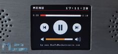 Arduino Touch Screen Music Player Screen