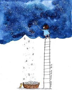 #365 204. Busy day. Sometimes I wish I could do that with my head -to shoo away all the unnecessary thoughts:) - Вот бы так вытрясти всякую ненужную муть из головы:) доброй ночи, кексики! (А Манка возьмет себя в руки и закончит черновик статьи, будь эти американские романтики неладны, с Готорном во главе:) #sketch #doodle #drawing #dailysketch #dailydrawing #dailydoodle #dailyart #1page1day #ink #watercolor #instaart #instadraw #artistsoninstagram #illustration #скетч #рисунок #mankastories