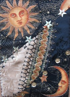 I ❤ crazy quilting & embroidery . . . A Christmas-Happy New Year card~By Margreet from Holland