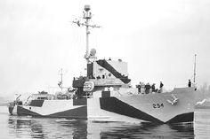USS Salute (AM-294) Sunk by a mine off Brunei, Borneo 8 June 1945.