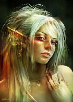 A rather malicious and feral-looking elf.