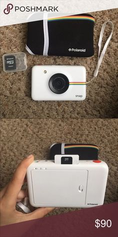 Polaroid Snap Camera Like New. White Polaroid Snap Camera with case, sd card, as card adapter, charger, and 5 sheets of picture paper included. Urban Outfitters Other