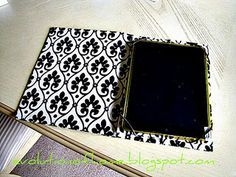 make your own kindle or ipad cover: old book, fabric, elastic and glue.