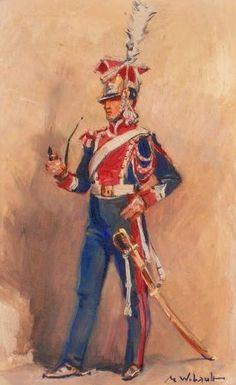 Lanciere polacco della guardia imperiale francese - Marcel Wibault