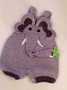 Overol con forma de elefante para bebé