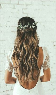 Top 13 Prom Hair Pictures 038 Designs Ideas Top - All For Bridal Hair Boho Wedding Hair, Wedding Hair Down, Wedding Bride, Dress Wedding, Prom Dress, Front Hair Styles, Medium Hair Styles, Hair Front, Prom Hair Medium