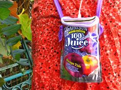 Ipod case juice pouch craft