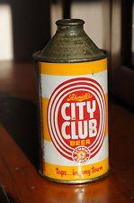 Schmidt's City Club Beer Cone Top Beer Can, 3.2, Nice!