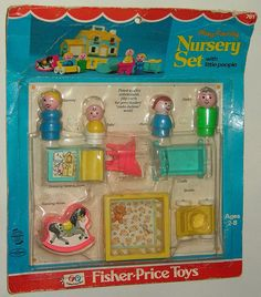 Fisher Price little people nursey set for the Fisher Price House.