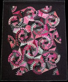 Lakeview Quilters Guild 2008:  Pink and black