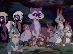 Cute animals from Bambi