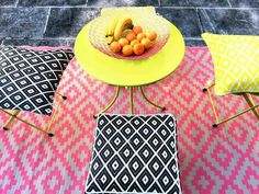 Green Decore Outdoor Teppich NIRVANA PINK AND CREAM