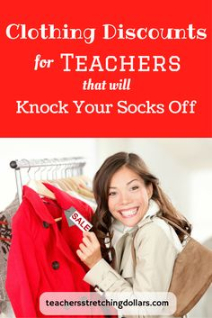 Take a look at these AWESOME clothing discounts you can get just for being a teacher.  And...for more teacher discounts, freebies, deals,and much, much more check out www.teachersstretchingdollars.com