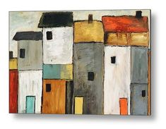 Home Decor Contemporary Birdhouses Contemporary Birdhouses, Modern Industrial Decor, Create Canvas, Abstract Art, Abstract Paintings, Landscape Paintings, Landscapes, Acrylic Art, Wood Wall Art