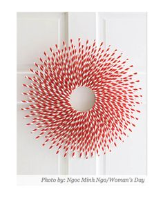 The Wreath Blog: Straw Burst Wreath at Woman's Day