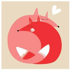 Love Foxes by Essi Kimpimaki who can resist these two cuties? Also available as a card too http://www.edinburghart.com/shop-2/love-foxes/