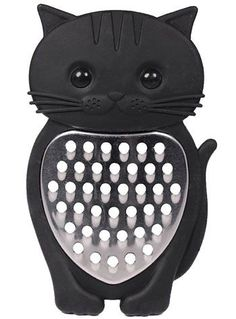 A Kitty in the Kitchen Black Cat Grater by Streamline NYC Gifts, Home Decor, Black