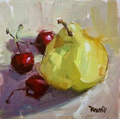 cathleen rehfeld • Daily Painting: Argentinian Pear