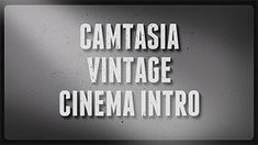 This is a premade Camtasia Template. It installs into Camtasia (PC) and you can then just drop it on your timeline and edit the text and other details in it.  In our latest Camtasia Template we've created a vintage styled intro/outro to use in Camtasia (PC). The template includes the backdrop, scratches, music. You can freely edit the text, change font, size, color length etc.