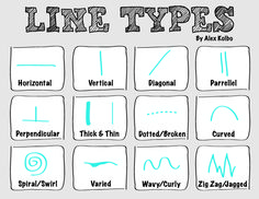 A poster I made for elementary for an intro to different types of lines. Elements Of Art Line, Elements And Principles, Different Kinds Of Lines, First Grade Art, Words With Friends, High School Art, Middle School, Art Worksheets, Art Corner
