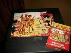 VIntage-1955-Walt-Disney-Davy-Crockett-Jaymar-Indian-Fighter-Puzzle-1950s-Toy