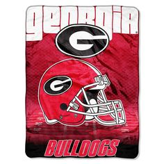 Georgia Bulldogs Overtime Raschel Fleece Blanket